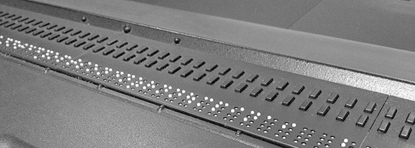 a refreshable Braille device
