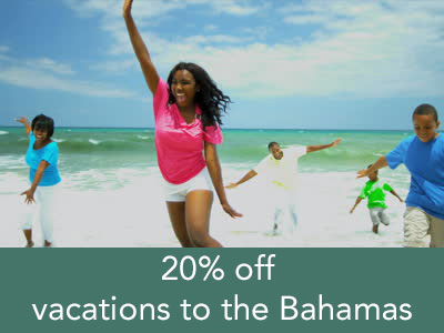 Enjoy a 20% discount on a sun-filled, family-friendly vacation to the Bahamas